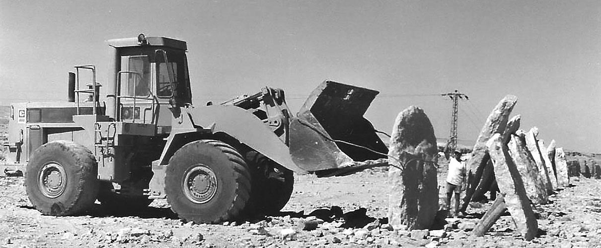 הקמת פיסלה של דליה מאירי, 1986.